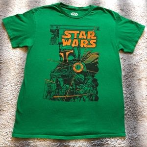 🛸 Star Wars Boba Fett Tee Men's Medium Green